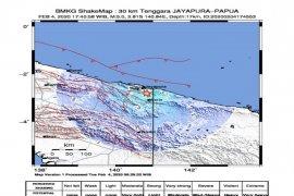 Gempa berkekuatan magnitudo 5 guncang Jayapura