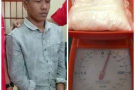 Hendak selundupkan 100 gram sabu-sabu ke Medan, Haikal diringkus Polisi Langkat