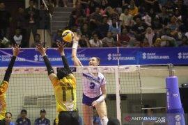 Tim voli putri Bandung BJB kalah dari  Jakarta PGN Polwan 1-3