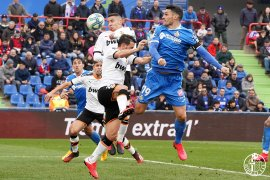 Liga Spanyol, Getafe semakin nyaman di posisi ketiga setelah kalahkan Valencia 3-0