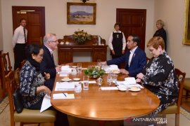 Presiden Jokowi santap malam dengan PM Australia Scott Morrison