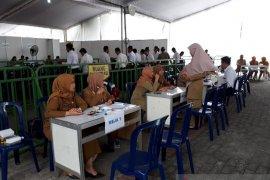 Saat tes CPNS Kabupaten Kediri, puluhan peserta tidak hadir