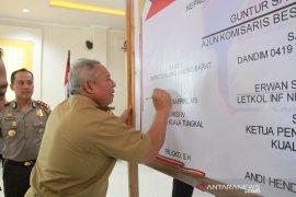 Bupati Tanjab Barat hadiri pencanangan zona integritas WBK Polres