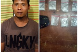 Satresnarkoba Polres Langkat ringkus nelayan pemilik 3,35 gram sabu