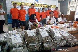 BNNP Bengkulu sita 2,2 kg sabu dan 20 kg  ganja