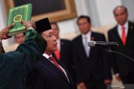 Presiden lantik Laksamana Madya TNI Aan Kurnia sebagai Kepala Bakamla