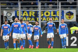 Napoli taklukkan Inter pada leg pertama semifinal  Coppa Italia