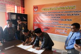Jelang Pilkada 2020, KPU-Kajari Tapsel tandatangani MoU