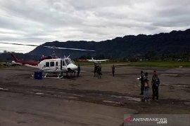 Tim evakuasi helikopter MI 17 tiba di Pegunungan Mandala