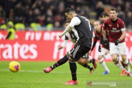 Penalti Ronaldo bawa Juventus imbangi Milan 1-1