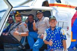 Gubernur dan Bupati Belitung  pantau Pembangunan Selat Nasik melalui Udara