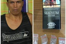 Satresnarkoba Polres Langkat amankan warga Gebang pengedar narkotika