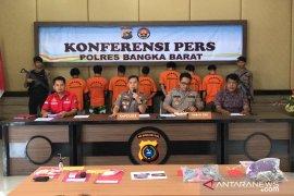 Polres Bangka Barat ringkus tiga pengedar narkoba antarpulau