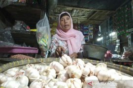 Harga bawang putih berangsur turun di Indramayu
