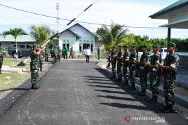 Danrem 133 tinjau lokasi pembangunan Koramil Popayato Barat