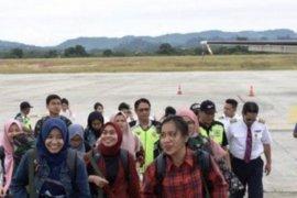 Sembilan mahasiswa Wuhan asal Kaltim tiba