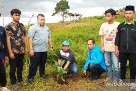 KNPI Tapsel tanami Tor Simago-mago dengan ribuan pohon