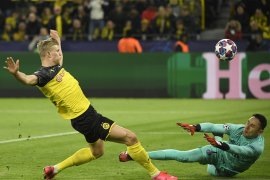 Liga Champions, dwigol Haaland antarkan Dortmund bungkam PSG