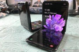 Layar kaca Samsung Galaxy Z Flip bisa dilipat