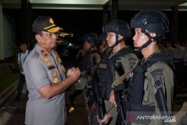 101 personel Brimob Gorontalo latihan di Jawa Barat