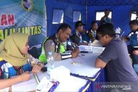 Puluhan kendaraan terjaring operasi batas kecepatan di Tol Madiun