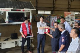 PMI terima bantuan unit solar wifi station dari Japan Red Cross Society