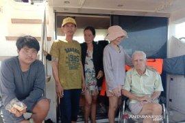 Sebuah kapal WNA terdampar di Pulau Bengkalis Riau