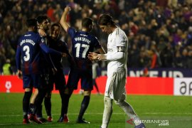 Real Madrid dikejutkan Levante dengan telan kekalahan dan gagal kembali ke puncak