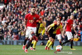 Bruno Fernandes cetak gol perdana bantu MU kalahkan Watford 3-0