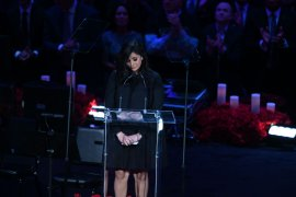 Vanessa pimpin  memorial Kobe Bryant yang kuras emosi