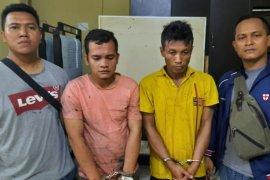 Polres Tanjungbalai amankan pengedar narkoba di kebun sawit
