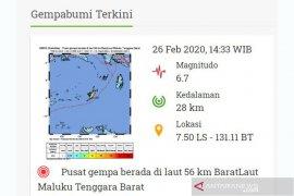 Gempa magnitudo 6,7 guncang Saumlaki