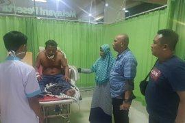 Korban pembacokan di Wampu Langkat dilarikan ke rumah sakit di Medan