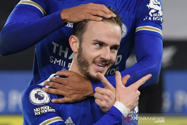 Liga Inggris: Leicester City kalahkan Brighton & Hove Albion 3-0