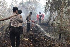 Personil gabungan di Inhil bermalam di hutan untuk padamkan Karhutla