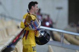 Antar Barcelona juara Copa del Rey 2021, Messi cetak sejarah