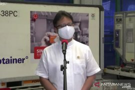 Six million doses of Sinovac\'s bulk vaccine arrived in Indonesia