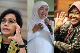 Sri Mulyani, Khofifah, dan Risma, 3 perempuan Indonesia tervokal di media massa