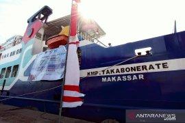 Plt Gubernur Sulsel dan Sekretaris Ditjen Hubdar resmikan KMP Takabonerate