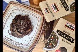 Menu Ramadhan - Black bean spaghetti cah jamur keju