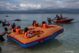 Pengunjung padati daerah wisata saat libur Lebaran