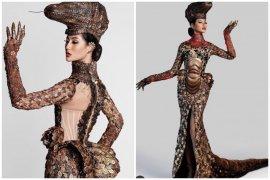 Ayu Maulida dalam balutan kostum komodo di Miss Universe