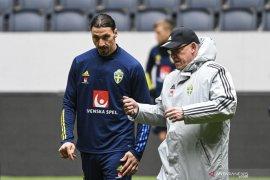 Zlatan Ibrahimovic dipastikan tidak perkuat Timnas Swedia di Euro 2020