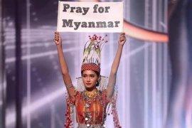 Kisah kontestan Myanmar menyerukan perjuangan di Miss Universe 2020