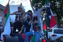 Bella Hadid ikuti aksi dukung Palestina di New York