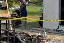 Polsek Candipuro Lampung Selatan usai dibakar massa