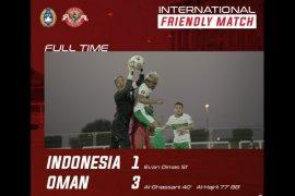 Timnas Indonesia kalah  dari Oman dengan skor 1-3