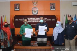 KPU NTB menyerahkan 1.746 dokumen penyelenggaraan demokrasi di NTB