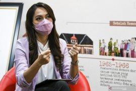 Dari ruang redaksi ANTARA, Reisa bercerita soal hasrat misi kemanusiaan