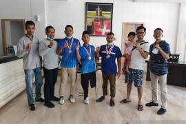 Ikuti Selekda NPC Riau dengan biaya sendiri, 3 atlet Meranti sabet 4 medali